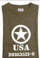 T-skjorte med alliert stjerne fra 2.vk olivengrønn