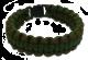Paracord grønt/brunt overlevelsesarmbånd