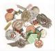 Østtyske 50 stk assortede metallmerker