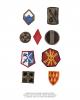 20 stk amerikanske US Army stoffmerker nye
