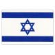 Fullstørrelse Israelsk flagg 150x90 cm