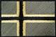 Norsk flagg lite m/borrelås svart/grønt 4,5x3cm