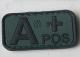 Blodmerke A+ i PVC grønt