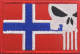 Norsk flagg m/Punisher