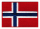 Norsk flagg farger m/borrelås 7,5x5,5cm