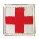 Medic/førstehjelp brodert kors rødt/hvitt