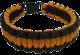 Paracord orange/svart overlevelsesarmbånd