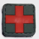 Red Cross Medic 3D PVC Patch grønt/rødt